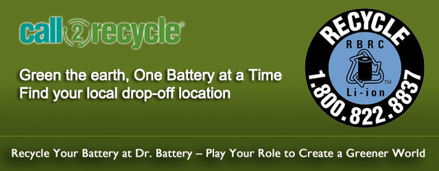 Recycle your battery at Dr. Battery. Play your role to create a greener world.
